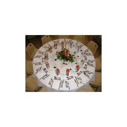 table ronde d180 10/12 pers
