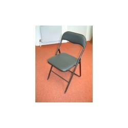 chaise pliante noir