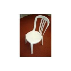 chaise miami pvc blanc